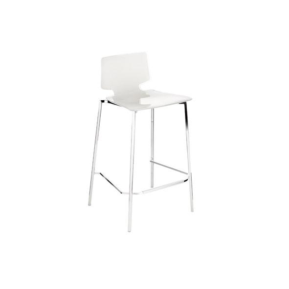 My Chair Barstol med Kromben, Vit Carlo Colombo Guzzini
