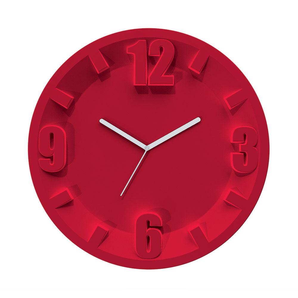 3-9-6-12 Väggklocka, Röd