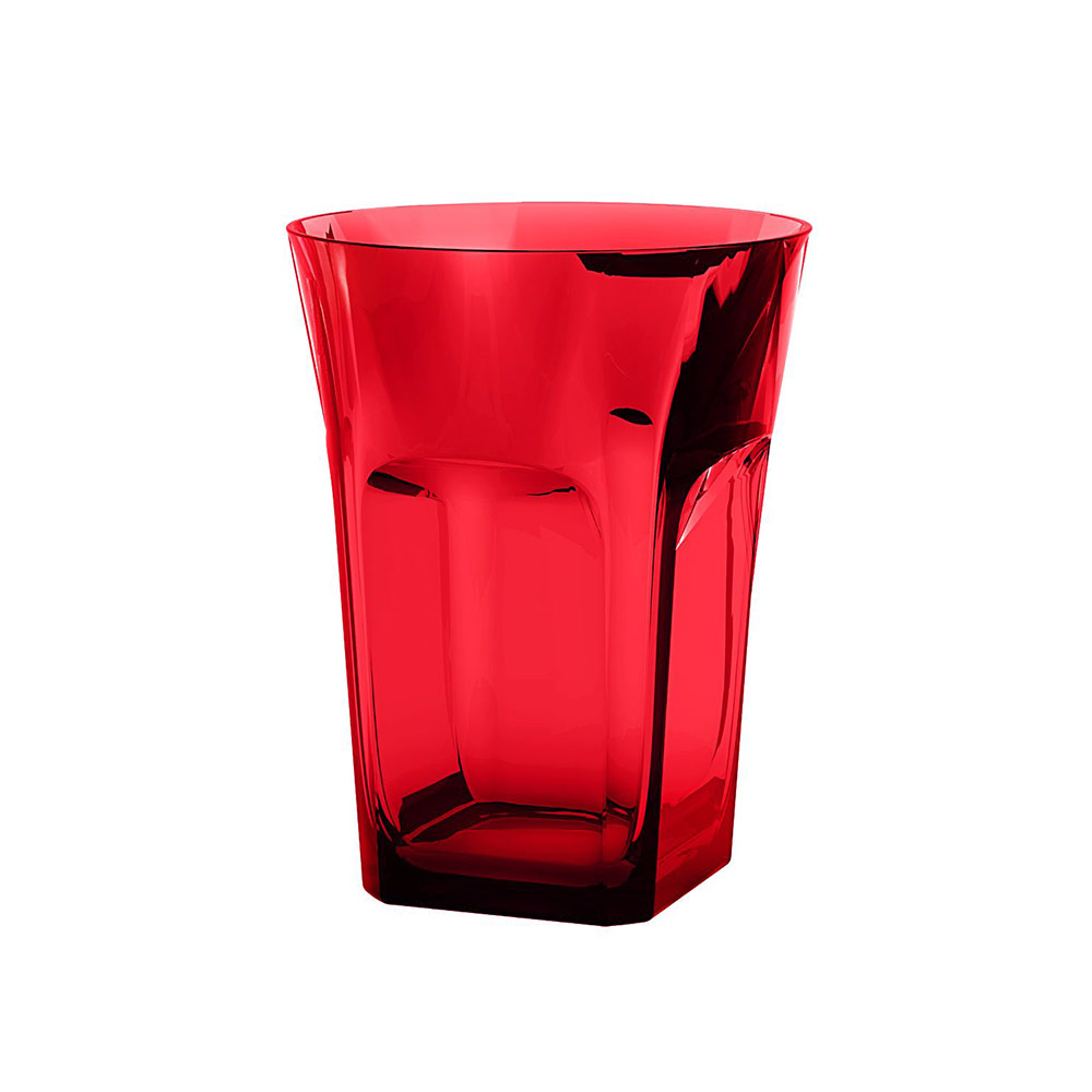 Belle Epoque Vattenglas Röd