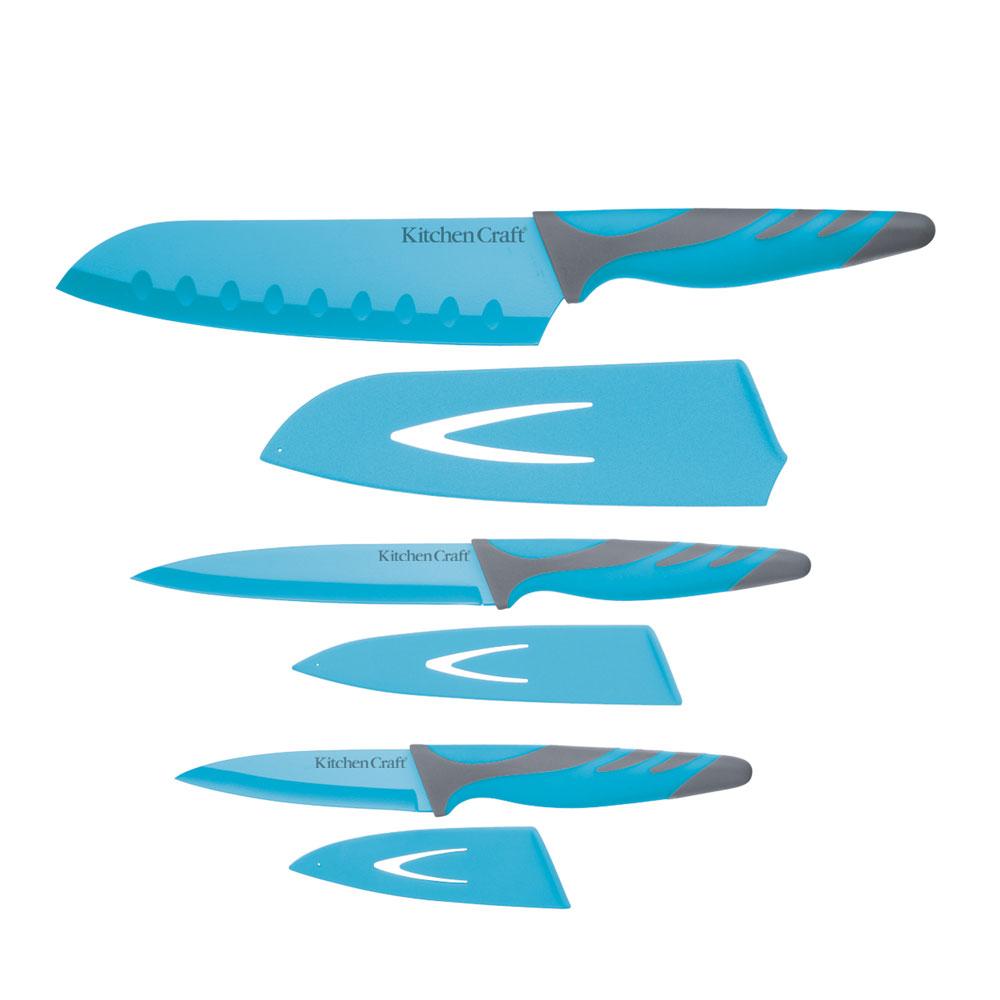 Colourworks Knivar Set med 3 Blå