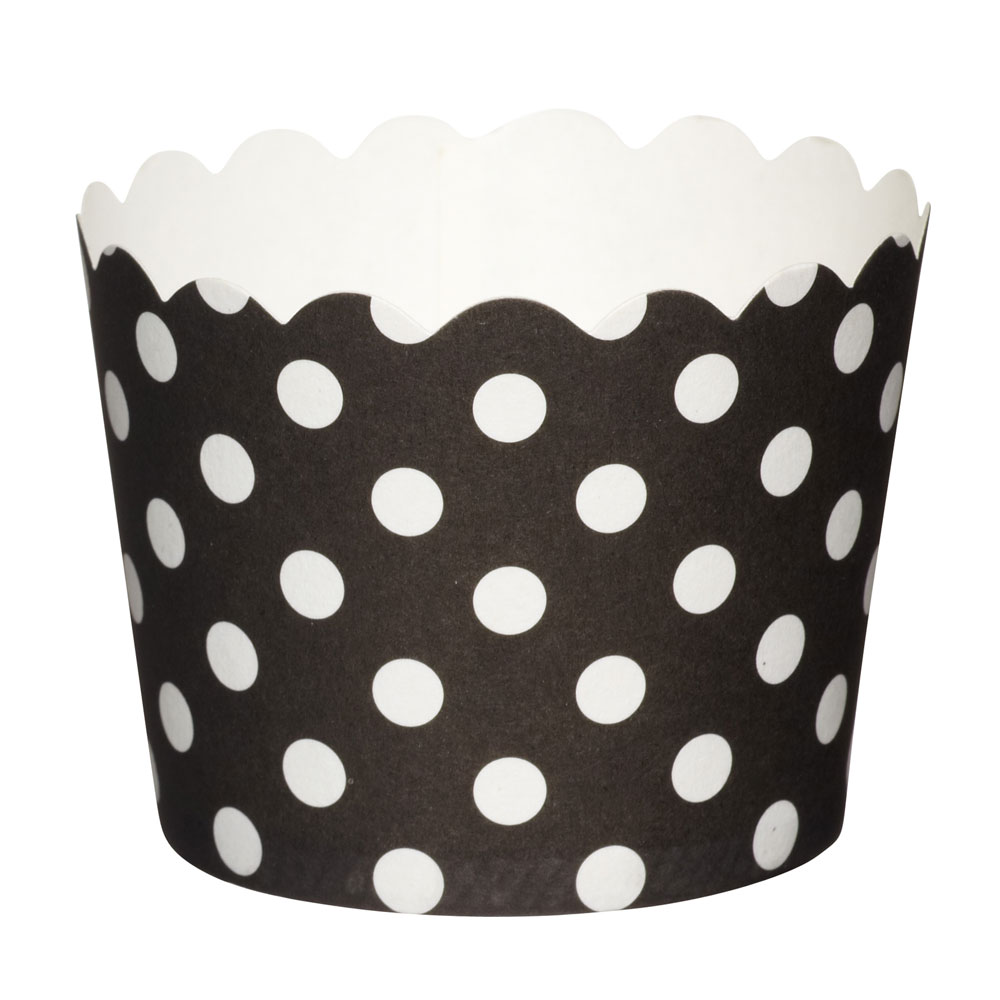 Sweetly Does It Black Paper Baking Cups 20-Pack