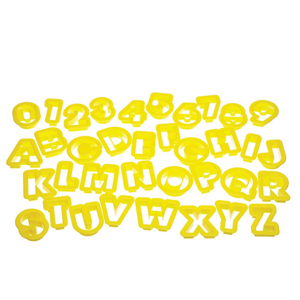 Let's Make Utstickare Siffror & Bokstäver 36 Delar