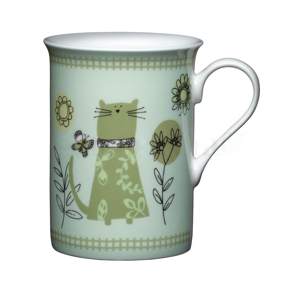 Kitchen Craft Porslin Mugg 320ml Grön Katt