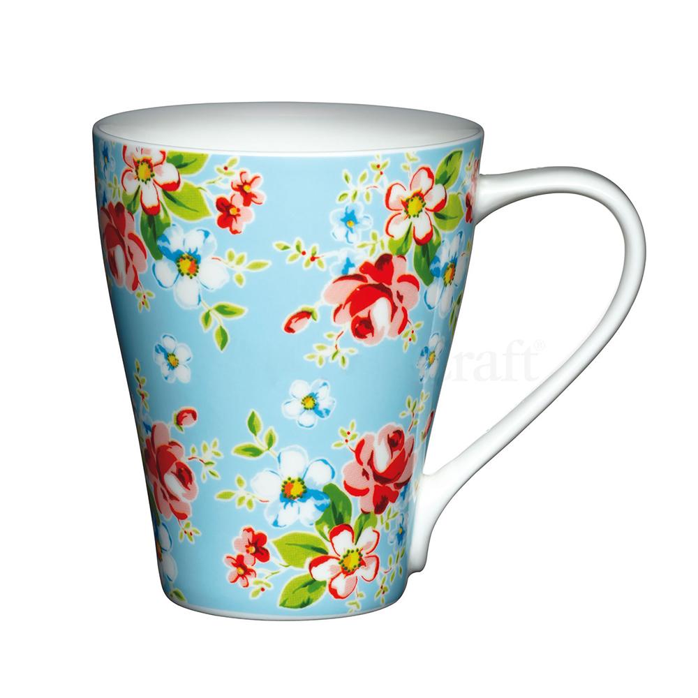 Kitchen Craft Porslin Mugg 390ml Blå Blommor
