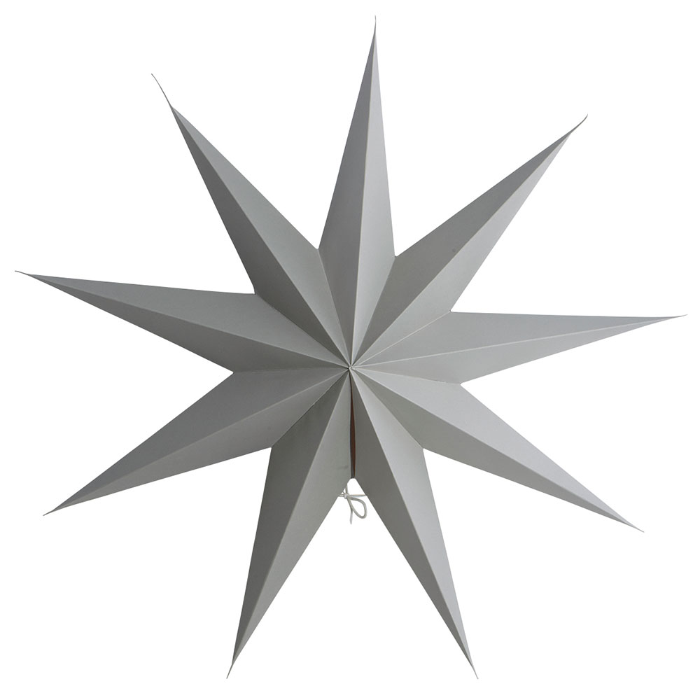 9 Point Julstjärna 60cm Grå