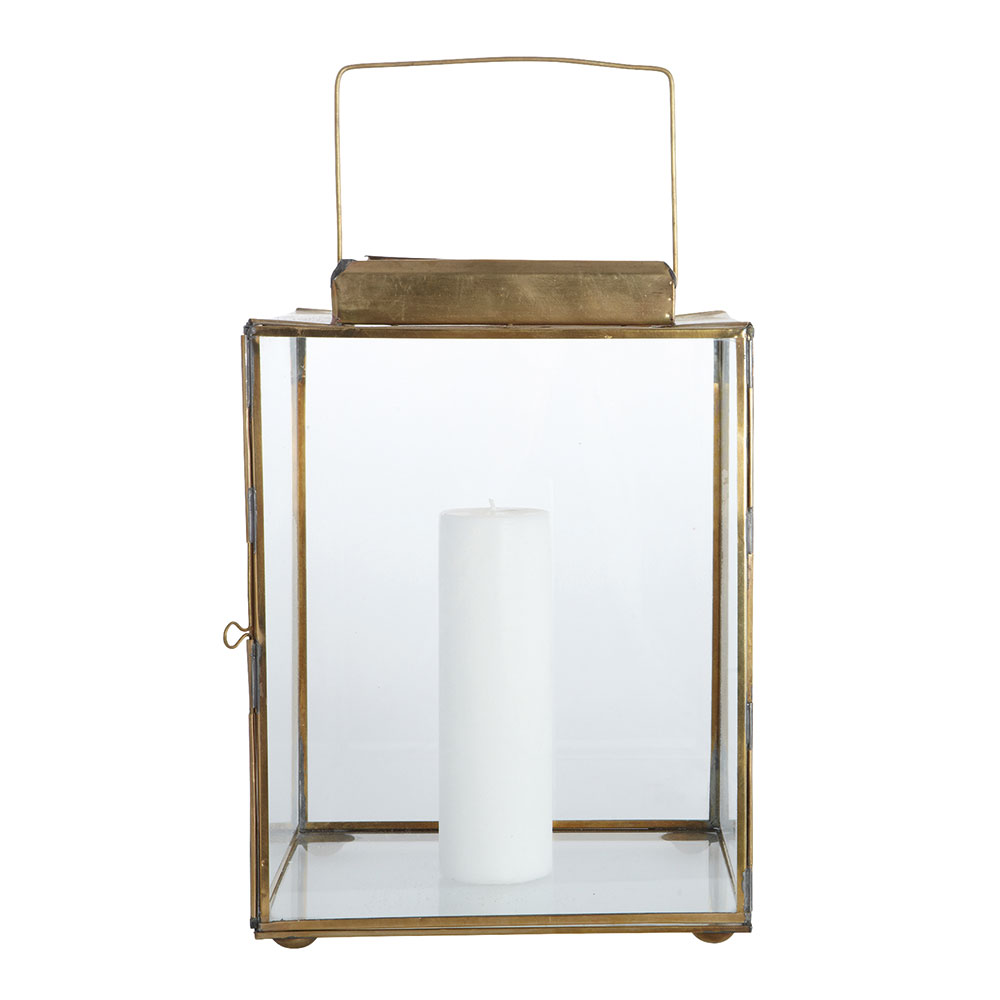 Cubix Lanterna 35cm, Mässing