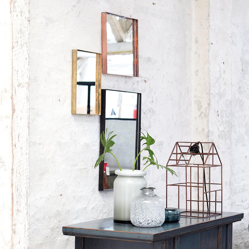 square spegel 30x30cm koppar house doctor house doctor. Black Bedroom Furniture Sets. Home Design Ideas