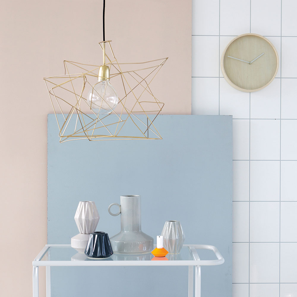 asymmetric lampsk rm guld house doctor house doctor. Black Bedroom Furniture Sets. Home Design Ideas