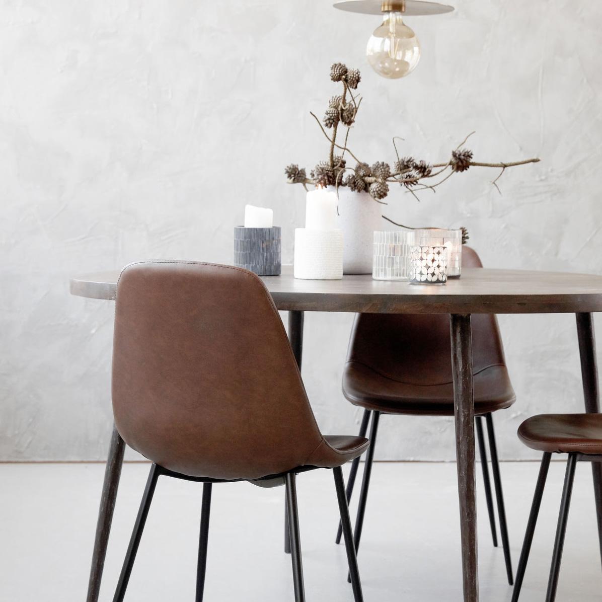 forms stol brun house doctor house doctor. Black Bedroom Furniture Sets. Home Design Ideas