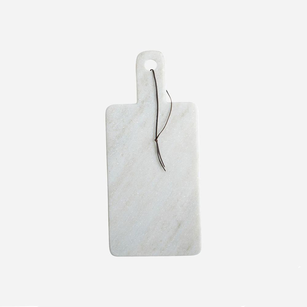 Skärbräda/Serveringsbräda, Vit Marmor