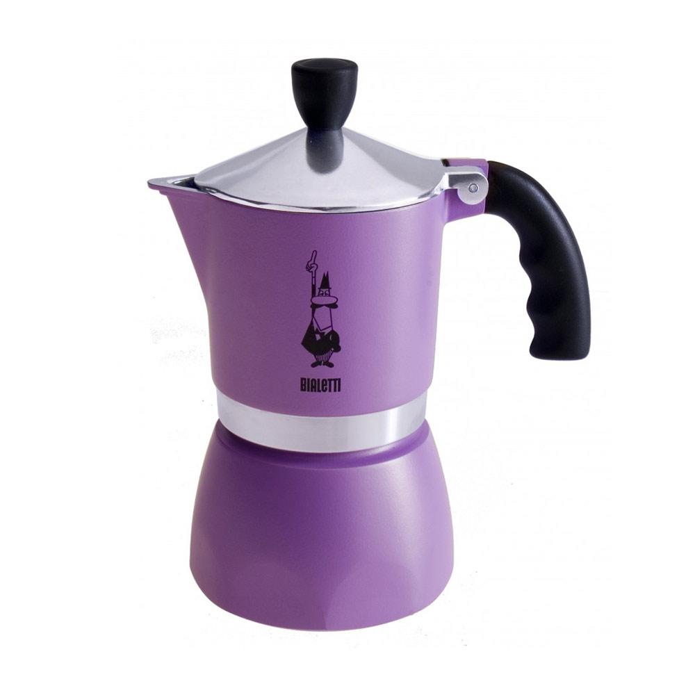 Fiammetta Espressobryggare Lila 3 Koppar