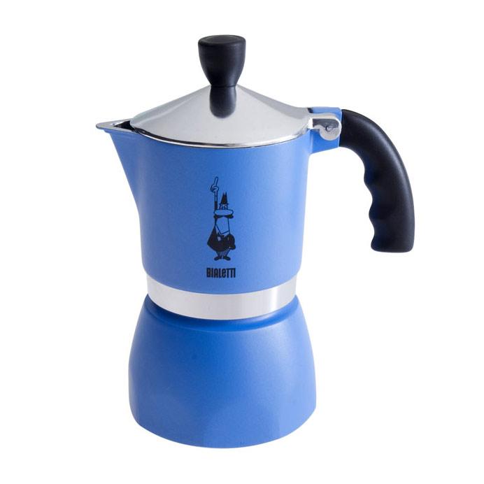 Fiammetta Espressobryggare Blå 3 Koppar