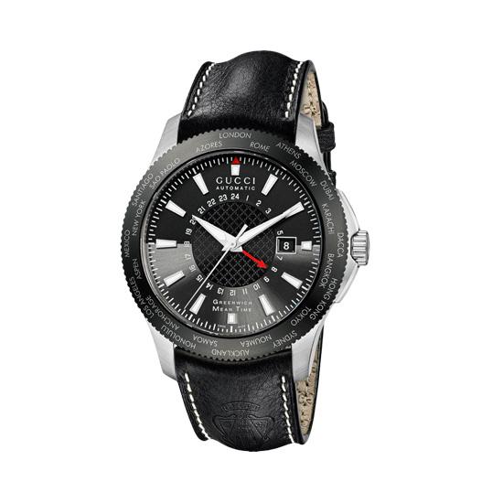G-Timeless Herrklocka Auto GMT Svart/Stål XL