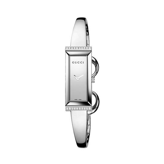 G-Frame Damklocka Stål/Silver 20 Diamanter S