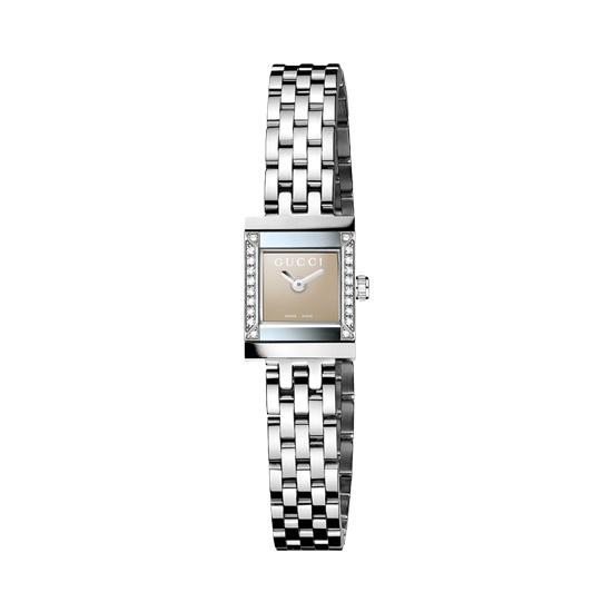 G-Frame Damklocka Stål/Brun/20 Diamanter S