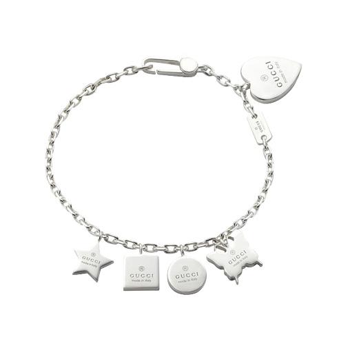 Trademark Armband med Gucciberlocker Silver