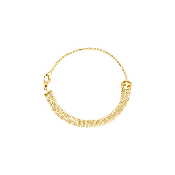 Gucci 1973 Armband med Kulkedjor Guld
