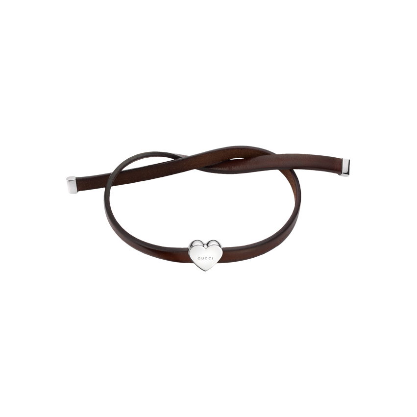 Trademark Armband med Hjärta Silver/Läder