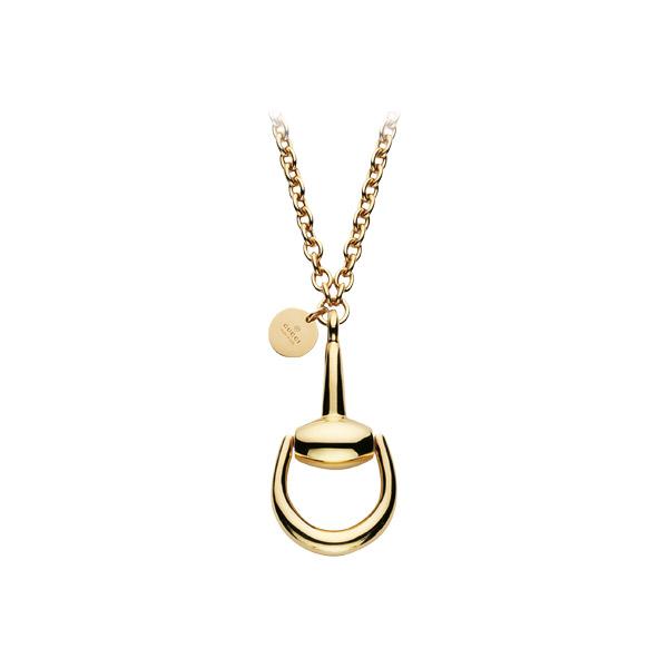 Horsebit Halsband med Betselhänge Guld