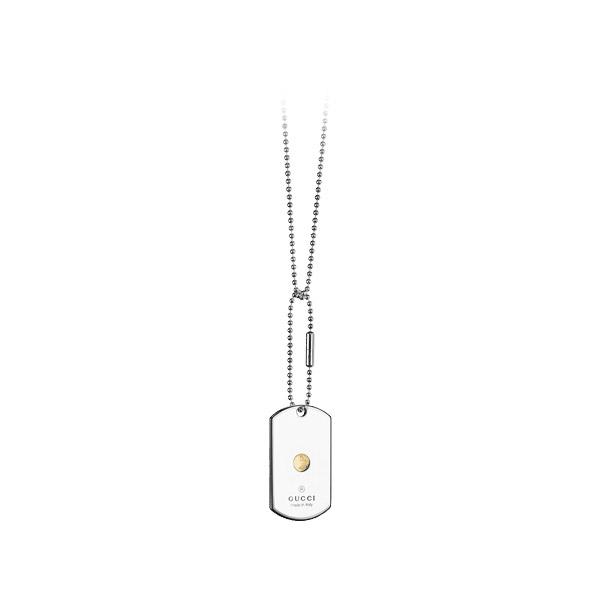 Dog Tag Halsband med Grammy logo Silver/Vit