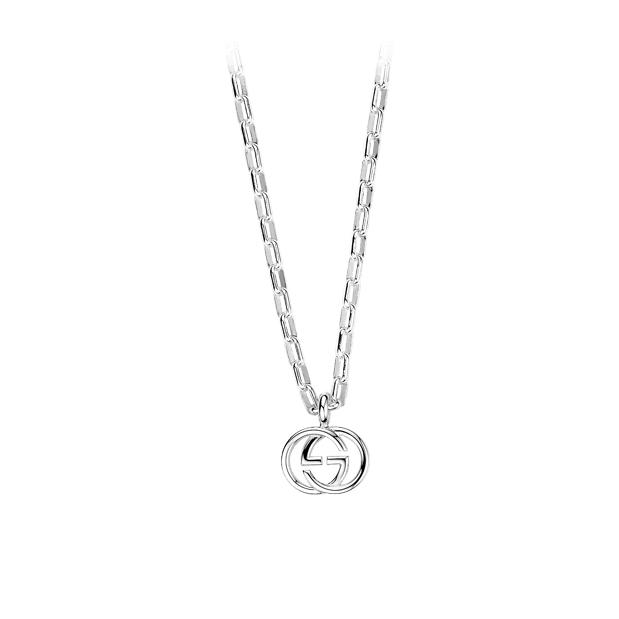 Interlocking Halsband med Berlock GG Silver