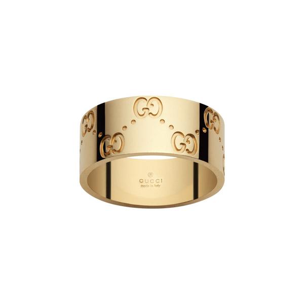Icon GG Bred Ring Guld