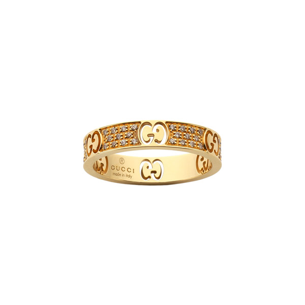 Icon Stardust Smal Ring Vitguld/Bruna Diamanter