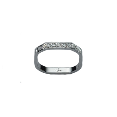 Alliansring Eternity Vitguld/6 Diamanter