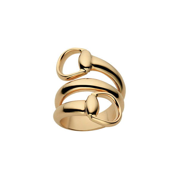 Horsebit Contraire Ring Guld