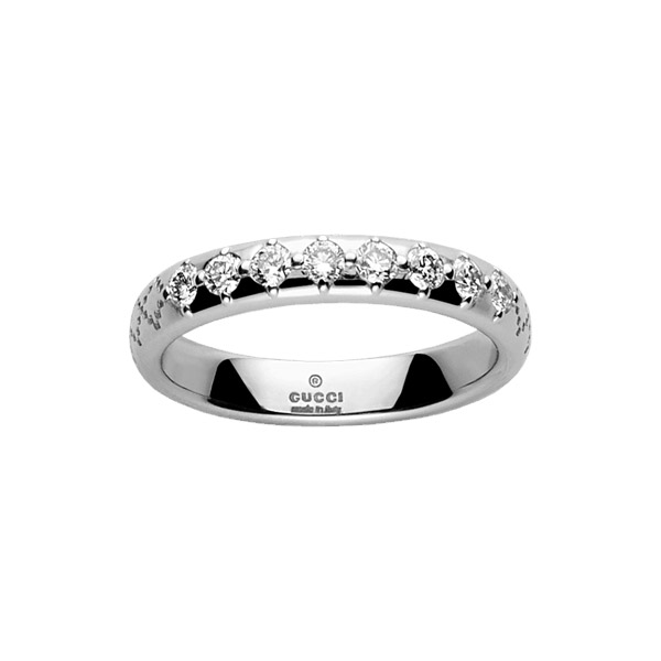 Diamantissima Smal Ring Vitguld/8 Diamanter