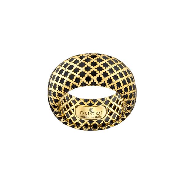Diamantissima Ring Guld/Svart Emalj