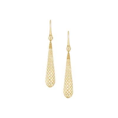 Diamantissima Örhängen Guld/Vit Emalj