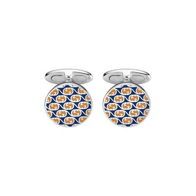 Manschettknappar GG-design Silver/Emalj