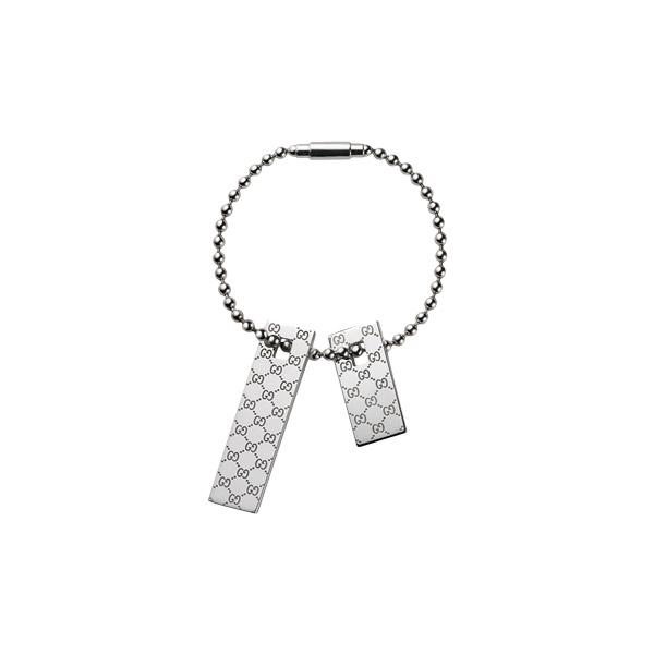 Nyckelring med Brickor GG Silver