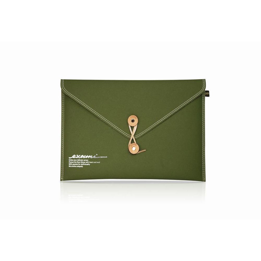 Evouni E13 Laptopfodral, Olivgrön