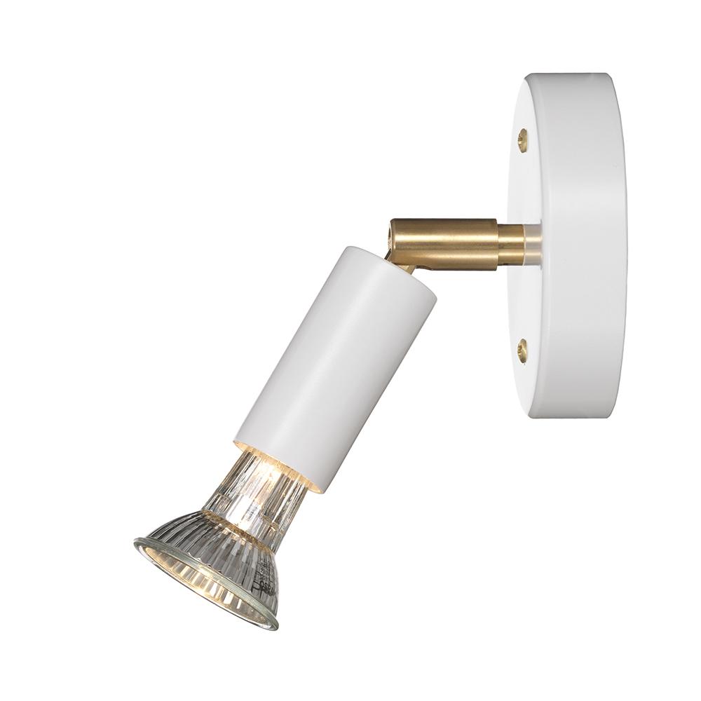 Star 1 Vägglampa med Dimmer (kabel) Vit