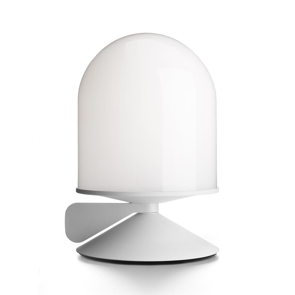 Vinge Bordslampa m. Dimmerhandtag Vit/opalglas