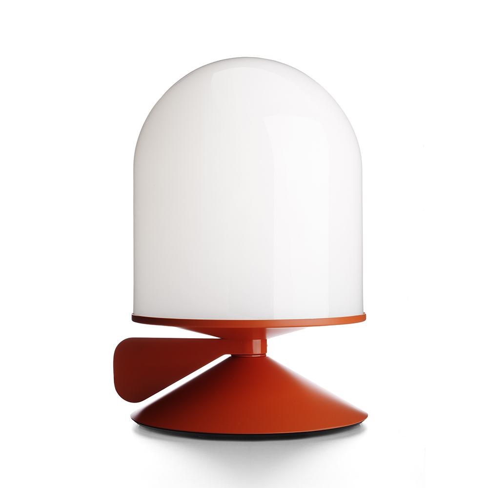 Vinge Bordslampa m. Dimmerhandtag Orange/opalglas