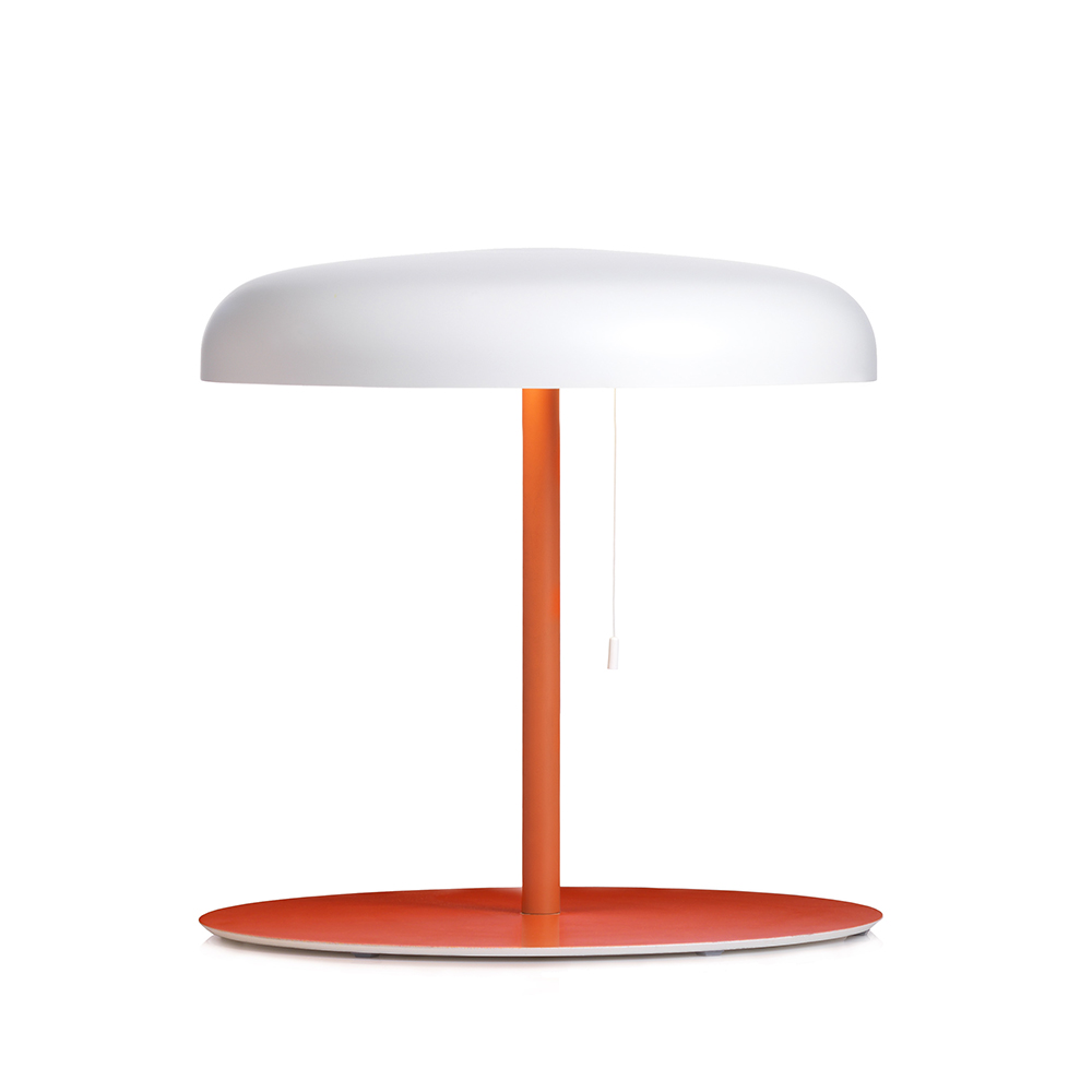 Mushroom Bordslampa Orange/vit