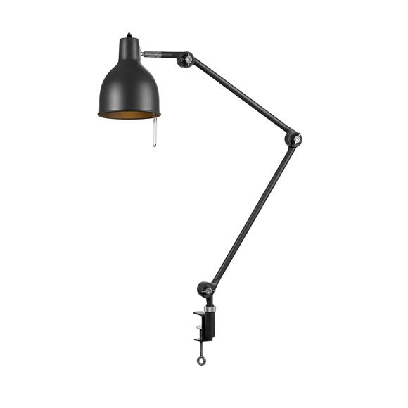 PJ65 Bordslampa Med Klämfäste Svart