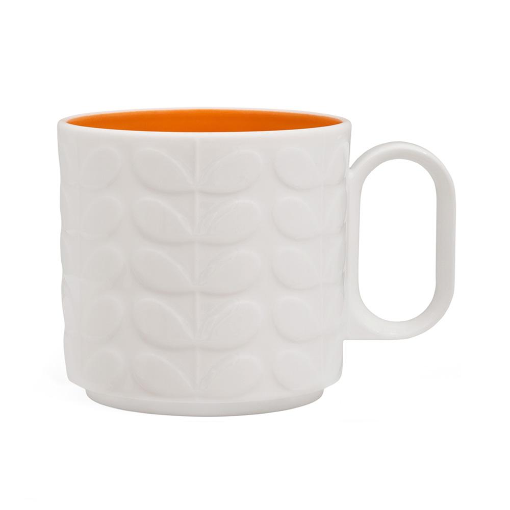 Raised Stem Stor Mugg Orange