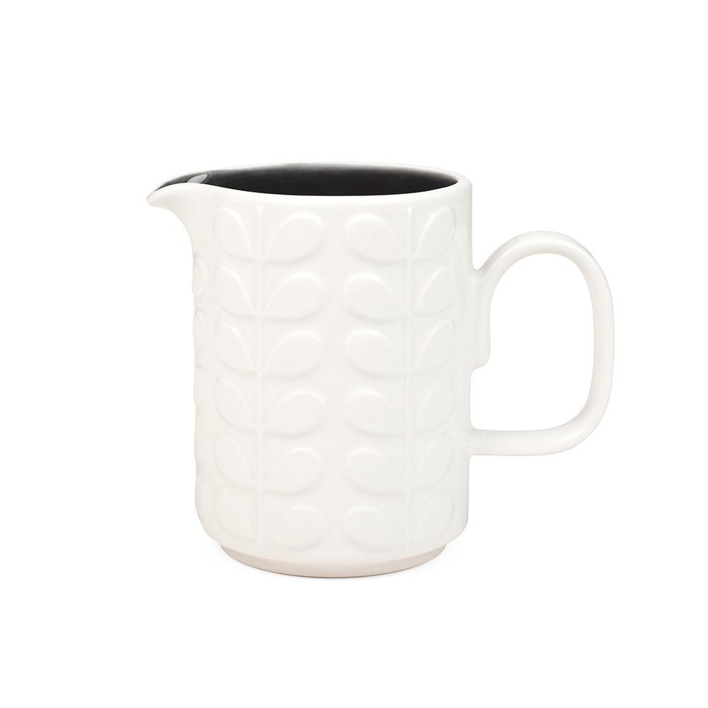 Raised Stem Mjölkkanna Vit/Charcoal