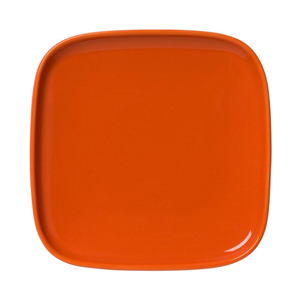 Oiva Assiett fyrkantig 10×10 cm, Orange