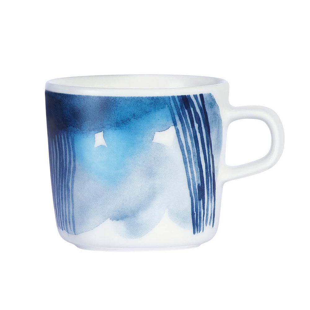Marimekko Sääpäiväkirja kaffekopp 20 cl, 2-pack,Vit/Blå