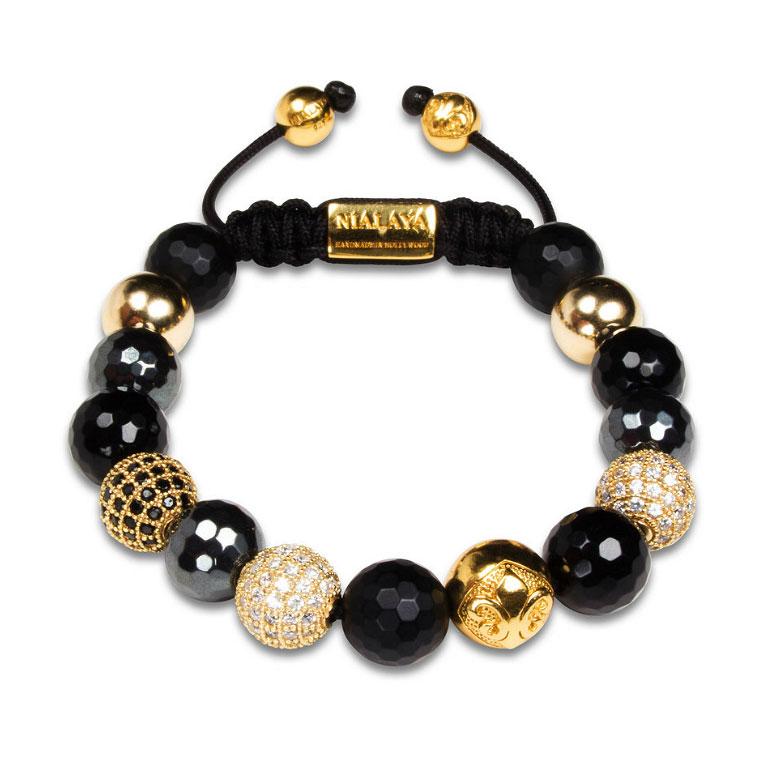 CZ Diamond Armband S Svart/Guld