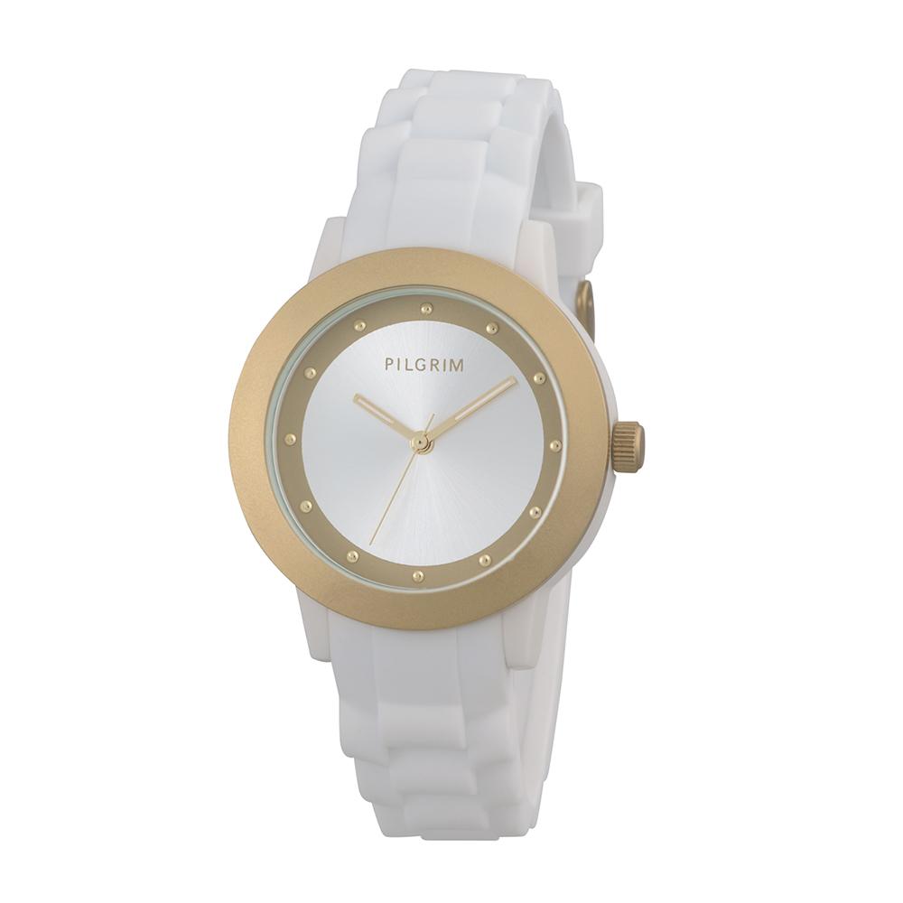 Armbandsklocka, Guld/Vit