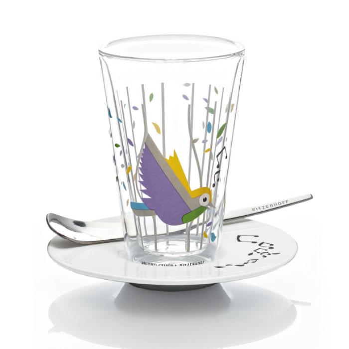 Bacione Latte Macchiato Glas Chiera F11