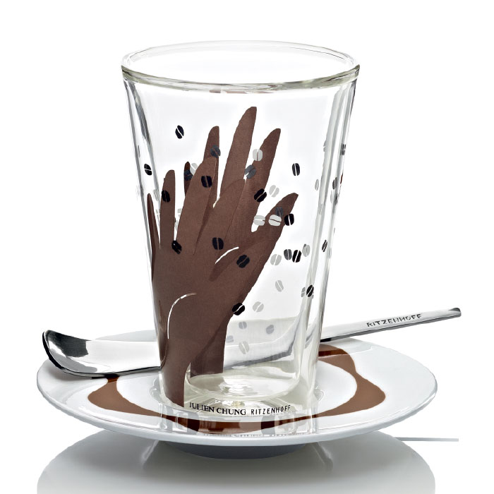 Bacione Latte Macchiato Glas Chung F12