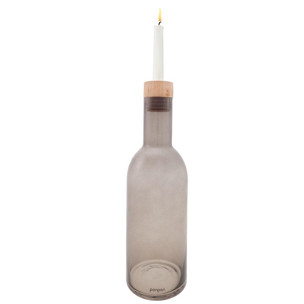 Bottle Vas/Ljushållare 368 mm, Grå