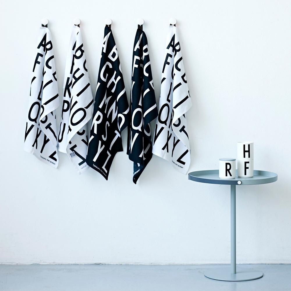 Turkos Kokshandduk : design kokshandduk  Design Letters, Kokshandduk 2 pack, Vit Design